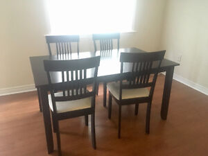 Almost New Bed/Boxspring/Sectional Couch/Dining Table + Chairs