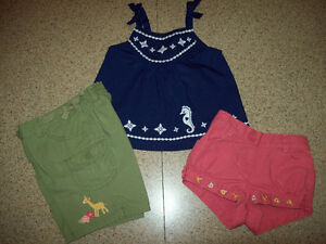 Gymboree Shorts and Top / Dress 0-3 months Exc. Cond.