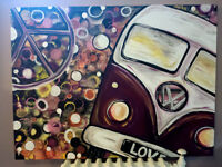 VW Hippy Bus Painting