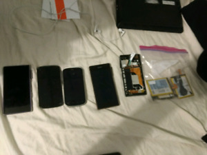 Lot of 5 broken smartphones