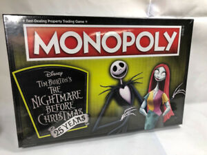 Nightmare Before Christmas Anniversary Monopoly (SEALED)