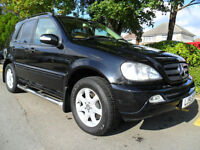 MERCEDES ML 270 DIESEL 7 SEATER COMPLETE WITH M.O.T HPI CLEAR INC WARRANTY