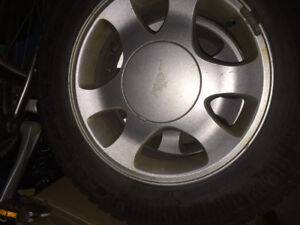 I have set 4 Mustang rims with winter tires all in 95% treat