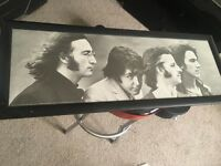 Large Beatles framed picture