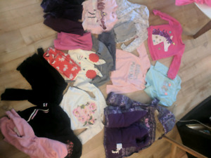 Girls 3t clothes and winter coat 21 items