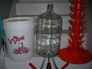 Wine making gear for sale.