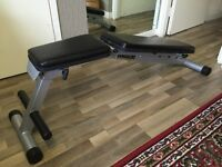 Gym bench, decline, incline flat, abs crunch, weights body building fitness, commercial professional