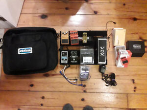 Pedals MXR Boss Vox Pedaltrain Distortion Delay Reverb Wah