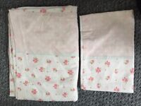 Girls cot bed bedding and swimsuit