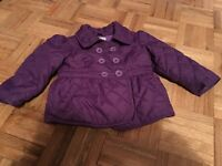 Purple Spring/Fall  Jacket 12-18 months