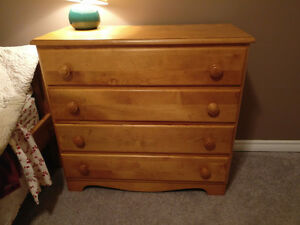Four Drawer Wood Dresser