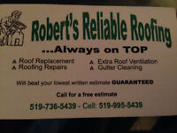 Roberts Reliable Roofing Inc and repairs