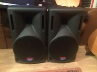 DB technology powered pa speakers