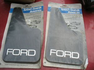vintage set of 2 mud flaps splash guards Ford mini Light truck