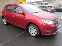 Dacia Sandero 1.2 16V 75 WITH ONLY 19832 MILES (red) 2013
