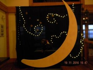 Wedding decor / moon photo booth and back drop London Ontario image 3