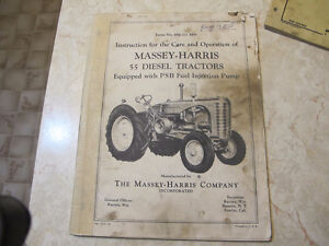 Massey Harris 55 Diesel Tractor operators Manual