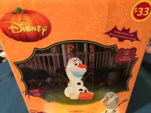 Frozen Olaf Halloween inflatable New $10