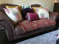 Large leather 2 seater sofa