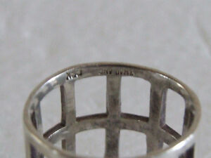 Sterling Silver stamped ring Size 8 London Ontario image 2