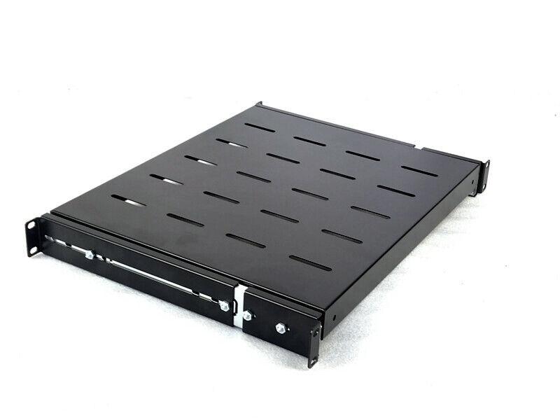 """Sliding Rack Server Shelf For Rack 1U 19"""" 4 Post Rack Mount-Adjustable 15""""-22"""""""