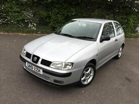 SEAT IBIZA 1.4 CHILL SILVER 3 DOOR HATCHBACK PETROL MANUAL 2001