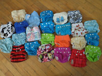 24 one-size cloth diapers