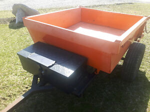 ATV hydraulic dump trailer