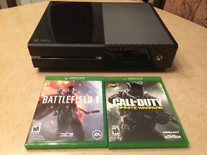 XBOX One 500gb, 2 games, 1 manette