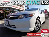 2012 Honda Civic LX (1) owner with extended warranty.