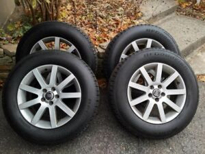 Volvo Mags with Winter Tires 235/65R17 Used 1 season