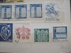 Selling My Stamp Collection--Sweden Lot