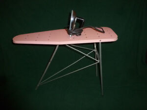 Vintage 1960's Wolverine Toy Iron and Ironing Board