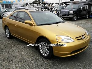 2001 Honda Civic Si VTEC Auto Sunroof Aircondition Coupe