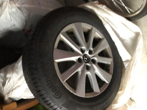 4 all season tires and rims mazda