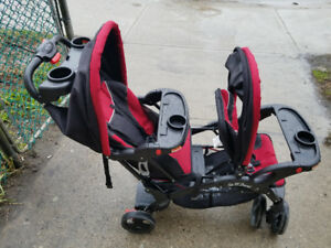 Double stroller, sit and stand