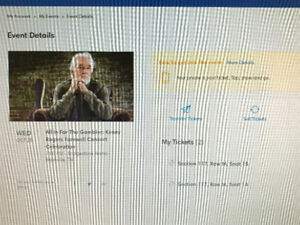 Kenny Rogers - All In For The Gambler (2 tickets - $200 each)