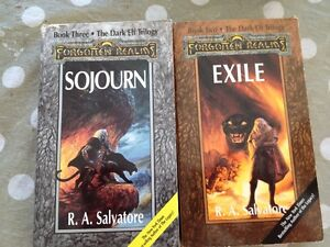 Livres R.A. Salvatore anglais Sojourn Exile books
