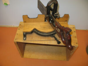 Antique Stanley No. 150 Miter Box and Saw