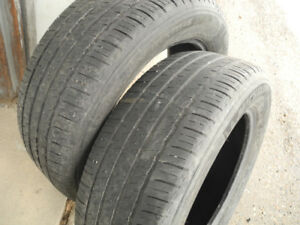 P235/60R18 pair of Michelin M+S All-season tires. Okay cond.
