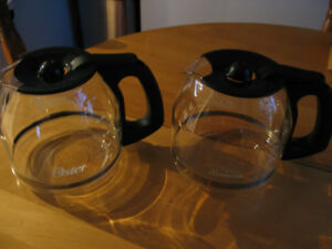 4 COFFEE POTS (FOR DIFFERENT COFFEE MAKERS) FOR SALE