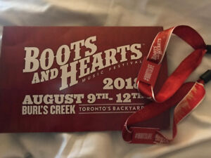 Boots and Hearts Tickets (2) $500