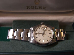 Fine Vintage Rolex Air-King Date Oyster With Rare Linen Dial