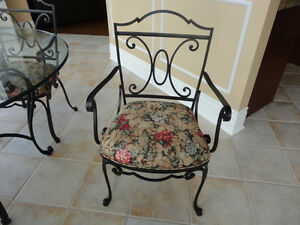 Four (4) Kitchen Chairs Only – Wrought Iron - $140.00 Total West Island Greater Montréal image 3
