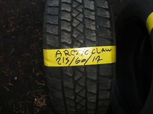4 WINTER TIRE 215/60/R17 ARTICI 85% TREAD Kitchener / Waterloo Kitchener Area image 1