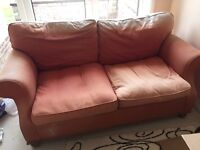 2 sofas chair and foot stool