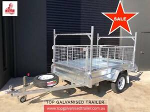 8x5 FULLY WELDED SINGLE AXLE TIPPER HOT DIP GALVANISED, 750 KGS Boronia Knox Area Preview