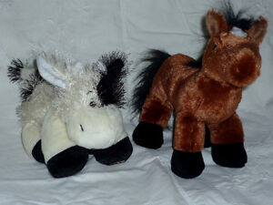 Cow and Horse stuffies ... Clean, Smoke Free, Exc Condition