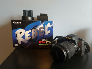 Canon T6s w/ 18-135mm lens, 3 Batteries & 2 Chargers + Box