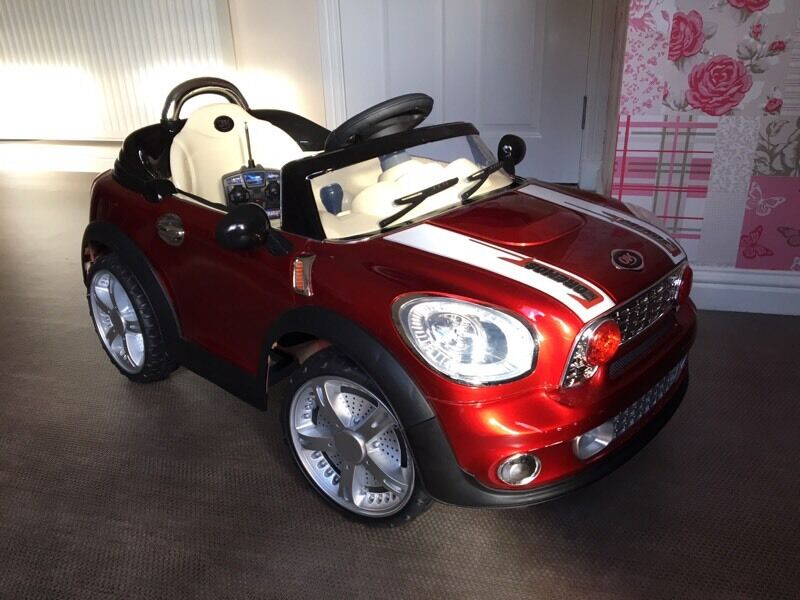 metallic red convertible drive remote control mini kids child car ipod